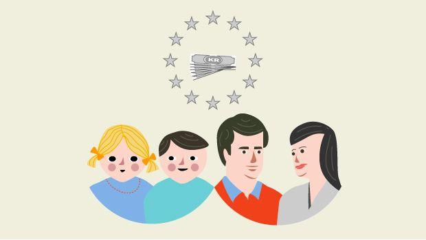 GRAFIK Så meget koster børnechecken statskassen Det samlede beløb til børn af EU-borgere udgør under end én procent af det samlede regnskab. Få overblikket over børnechecken her. D. 27/2 2014