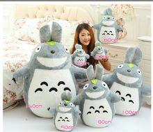 20-140 cm Totoro peluş oyuncaklar, noel Promosyon Japonya Anime TOTORO'NUN Yumuşak & Dolması Peluş Oyuncaklar Bebek Yastık Doğum Günü hediyesi(China (Mainland))