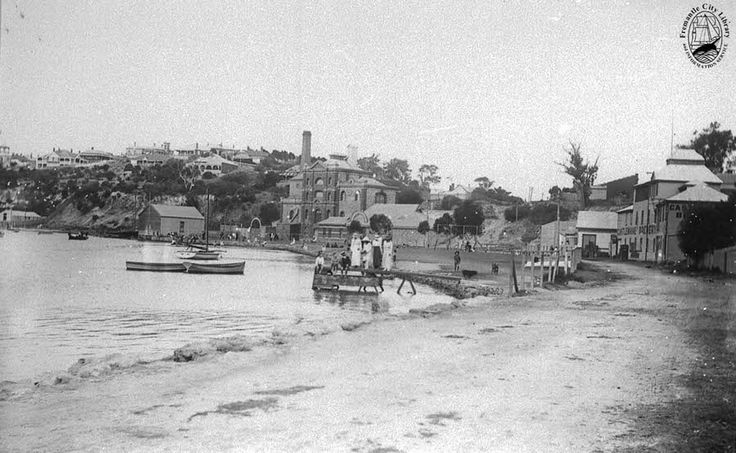 Riverside Drive (now Road) 1911-12    Photo taken from the corner of East Street, with Castlemaine Brewery (built before 1898) in the centre. The bottling works are to the right. On the left is the Swan Yacht Club.