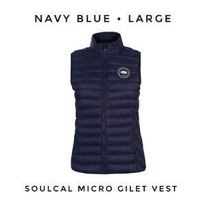 Womens SoulCal Stripe Vest New