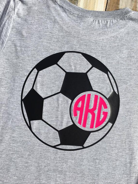 Monogram Girls' Soccer Vinyl Shirt by CutesyTDesigns on Etsy