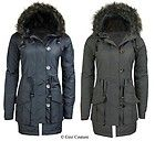 WOMENS MILITARY HOODED PADDED QUILTED LADIES PARKA JACKET COAT PLUS SIZE 8-22 in Clothes, Shoes & Accessories, Women's Clothing, Coats & Jackets | eBay