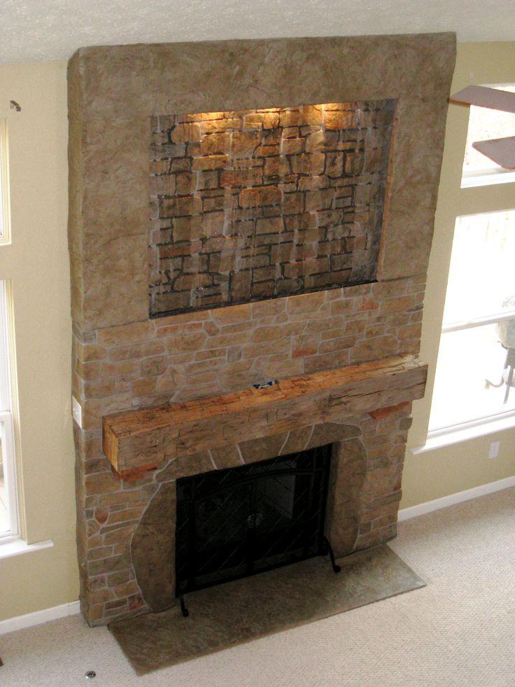 Stamped Concrete Fireplaces : Best images about flex c ment decorative concrete