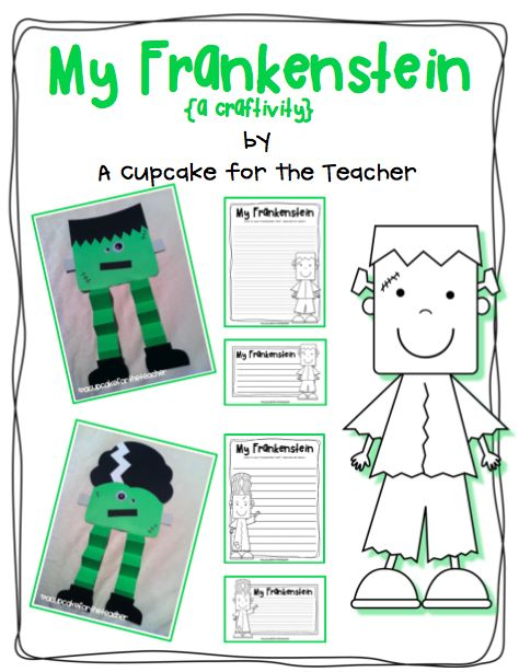 """My Frankenstein"" Craftivity UK-Eduacation Learning Site @ http://www.smartyoungthings.co.uk"