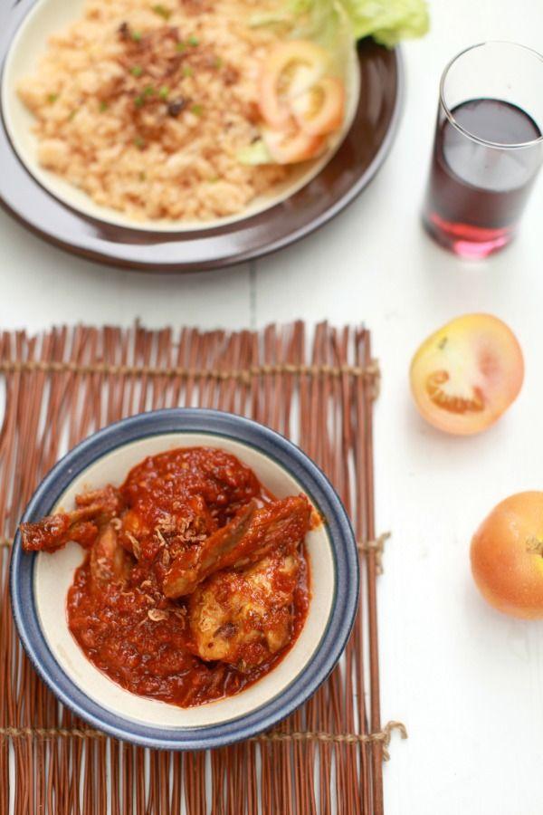 Nasi tomato n ayam masak merah