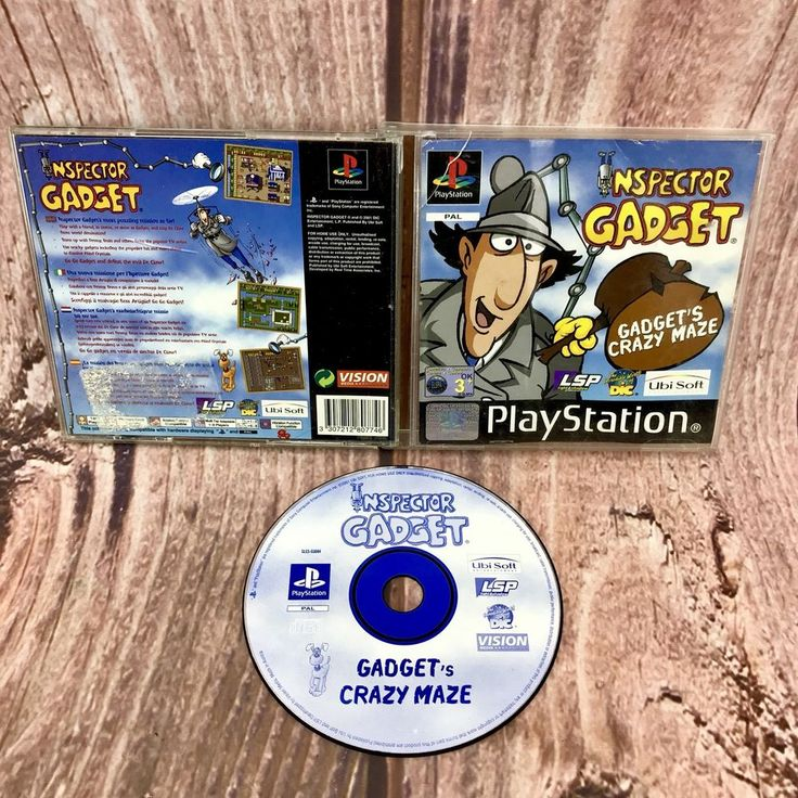 Ps1 Inspector Gadget Gadget's Crazy Maze  Sony Playstation 1 2001 video game pal