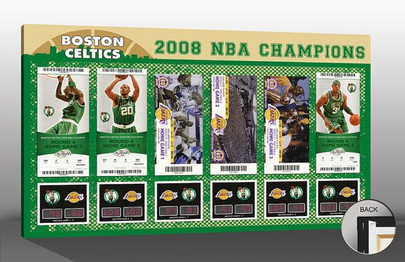 2008 NBA Finals Tickets to History Canvas Print - Boston Celtics