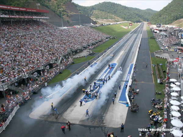 overview of a drag strip