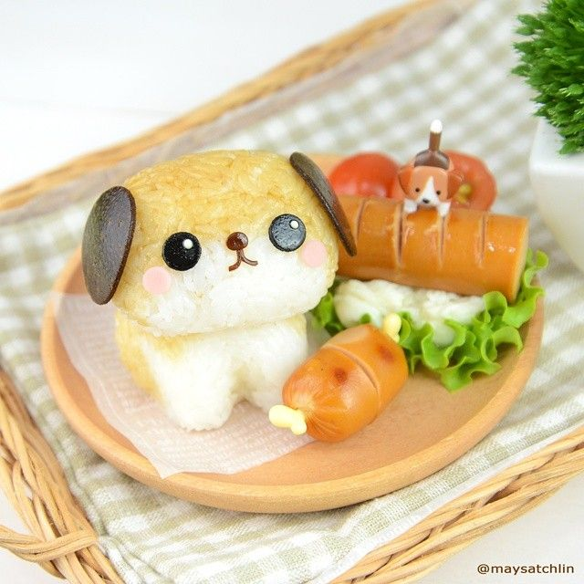 Puppy bento by maysatch - I cant! Could you?!