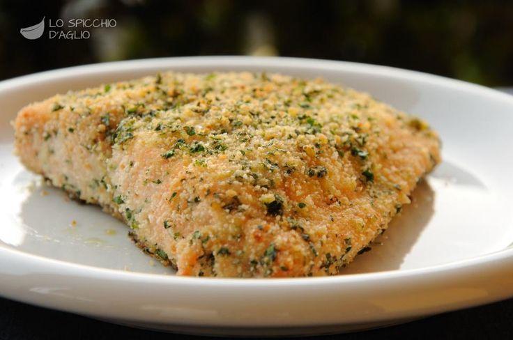 Filetto di salmone gratinato
