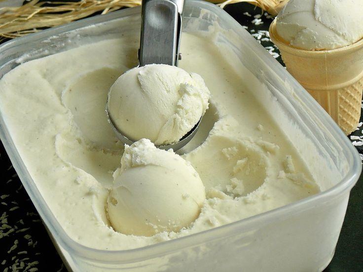 Lody kokosowe bez jajek i maszynki do lodów – KuchniaMniam
