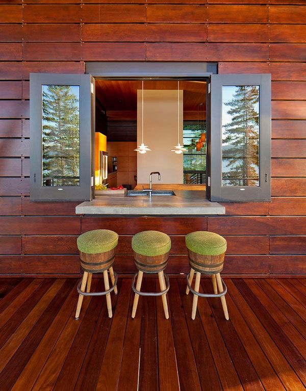 Cabin on a cliff overlooking coeur d alene lake lakes for Kitchen window bar ideas