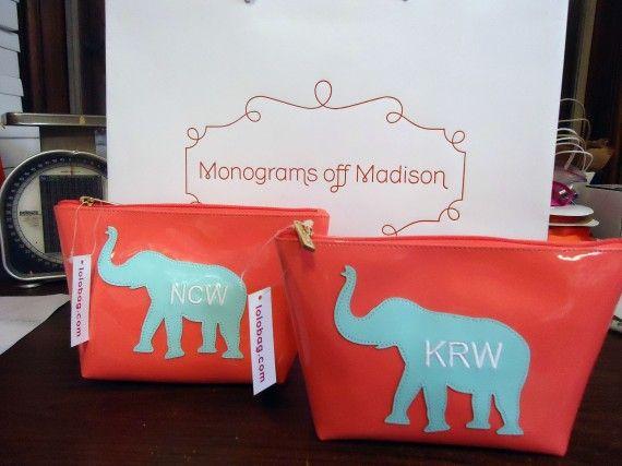 Monograms off Madison elephant bags