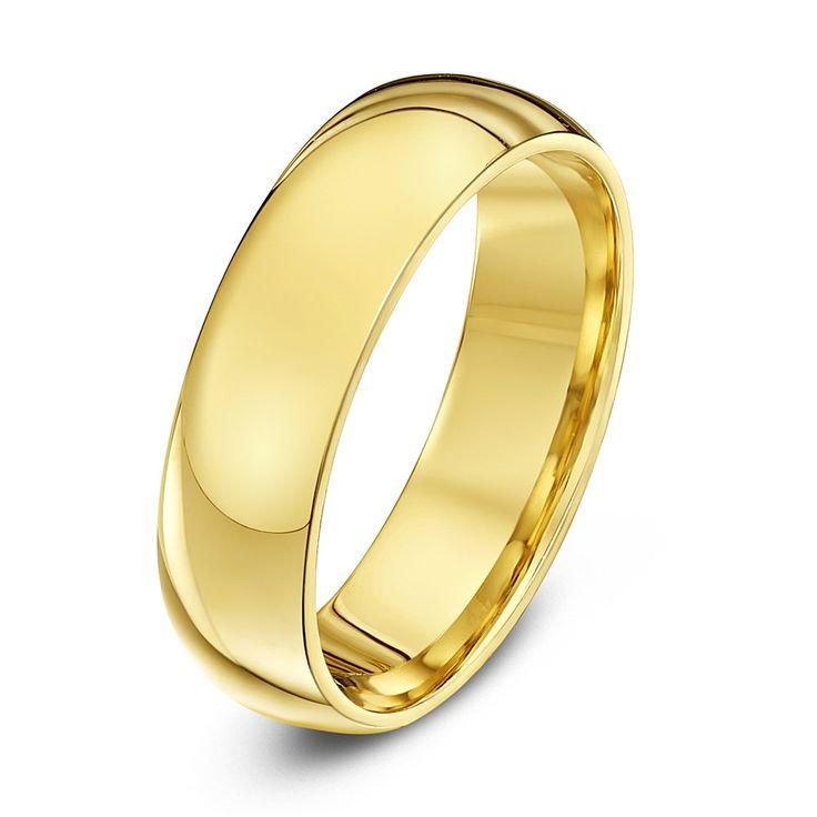 9ct WHITE GOLD 2 3 4 5 6 8 10mm D-SHAPE LIGHT MEDIUM HEAVY WEDDING RING BAND