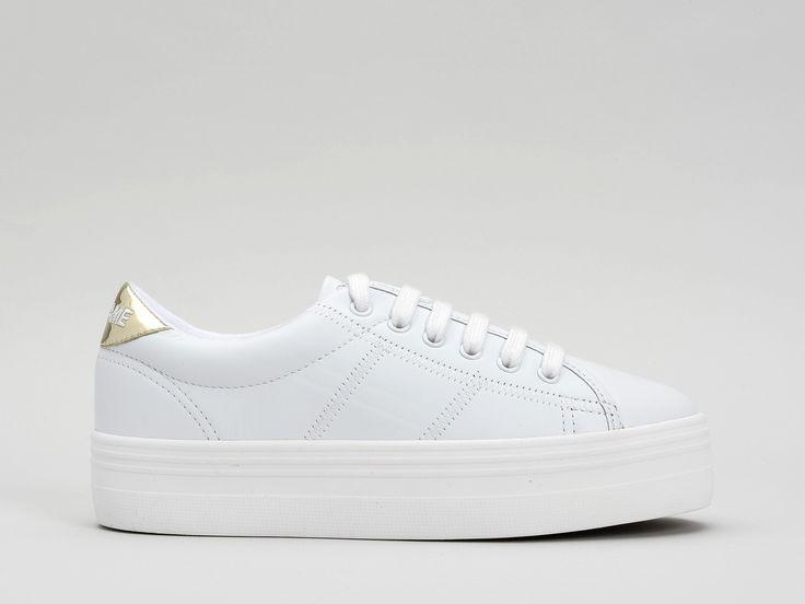 Découvrez le modèle Plato Sneaker Nappa Glass White/Gold et toute la collection des chaussures No Name.