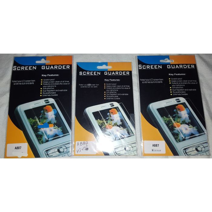 3 Samsung A887 Cell Phone Screen Protectors Guards Mirror NEW in Package Listing in the Screen Protectors,Accessories for All,Accessories,Mobile & Cell Phones,Phones,Electronics Category on eBid Canada | 146006374 CAN$ 10.00 + shipping
