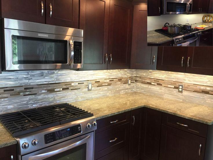 123 best tile install photos stainlesssteelbacksplashcom for Stainless steel tile backsplash installation