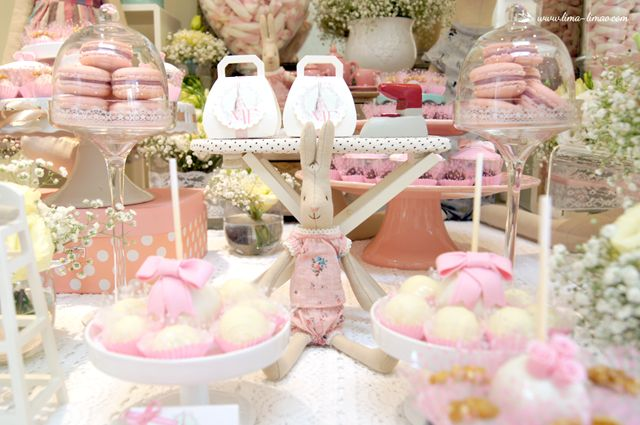 Lots of bunnies and Maileg furniture for this Maileg themed party