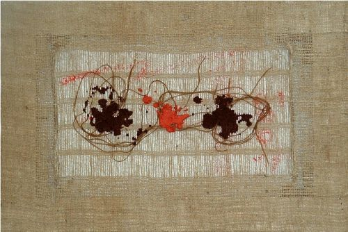 Salvatore Emblema, Terre naturali su juta, 60x40cm - 2004