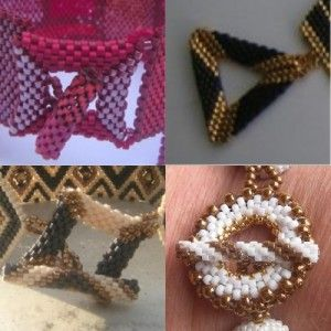 How to Make Bead Woven Clasp Tutorials - great collection!