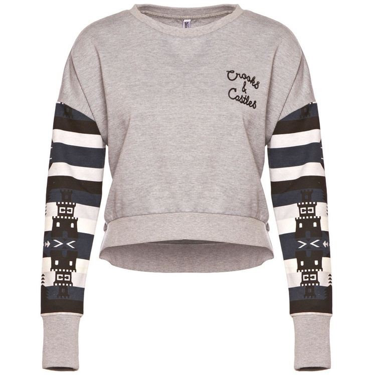 MAYAN - Women's Knit Cropped Crew Sweater by Crooks & Castles