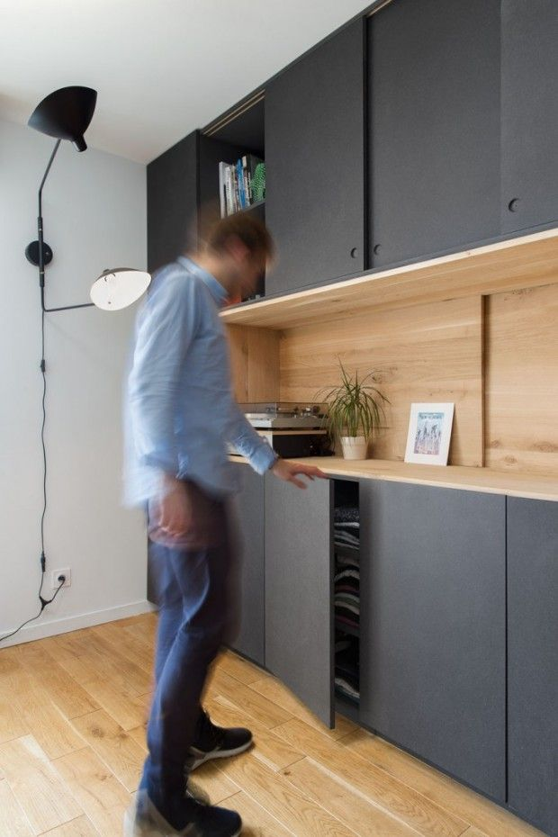 Rénovation d'un appartement de 33 m2 à Lyon par l'Atelier DITO - Journal du Design