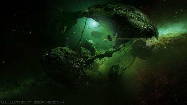 1600x900 21098 planet of the islands 2d sci fi space for Space matte painting