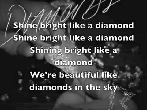Rihanna - Diamonds (In The Sky) Lyrics On Screen