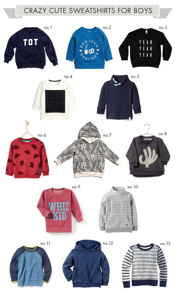 Cute fall sweatshirts and clothes for boys