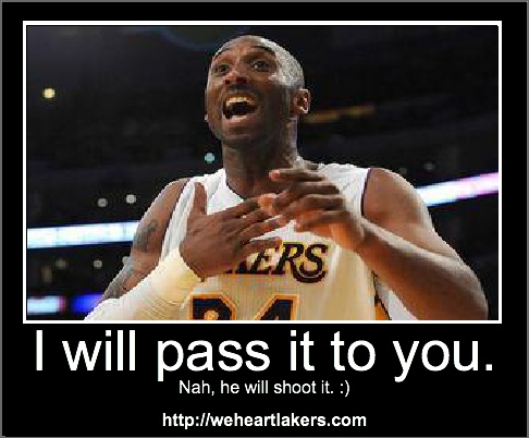 I will pass it to you,  a Kobe Meme