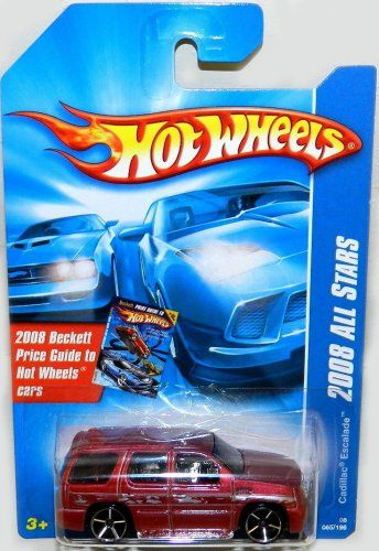 Cadillac Escalade Hot Wheels 2008 Red Sport Utility Vehicle SUV Cadillac Escalade 164 Scale Collectible Die Cast Metal Toy Car Model -- Learn more by visiting the image link.Note:It is affiliate link to Amazon.
