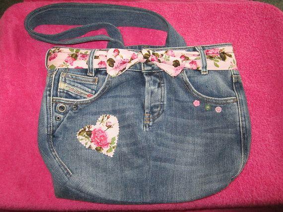 Denim Handbag by Cherrypoppets on Etsy, $29.60