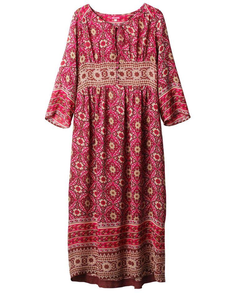 AURORA klänning rosa | Print | Dress | Klänningar | Kläder | INDISKA Shop Online