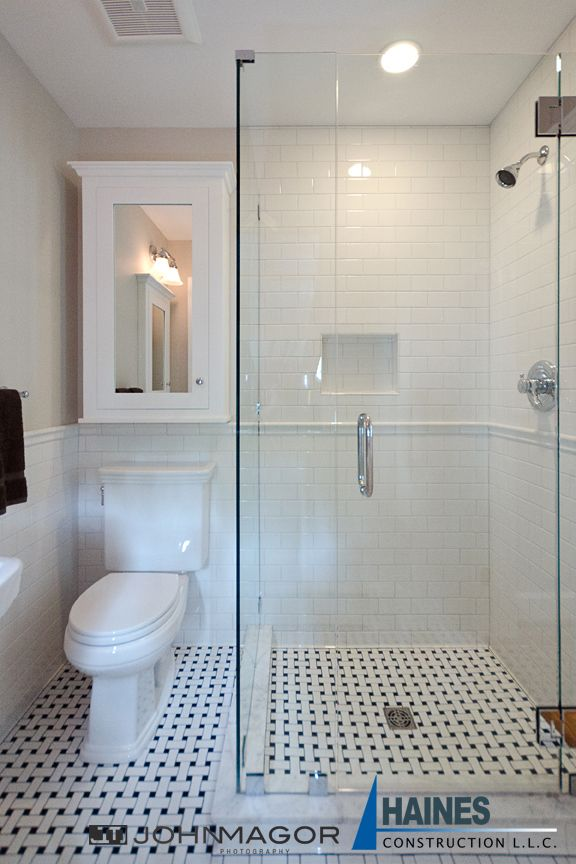 Big changes in a small space marble showers bath for Small hall bathroom remodel ideas