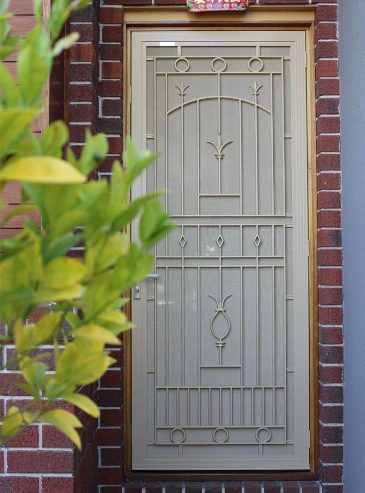 paperbark panel stainless security door stainless security door doors home house. Black Bedroom Furniture Sets. Home Design Ideas