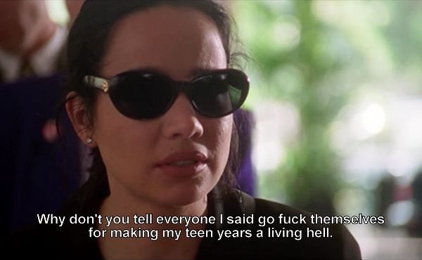 Romy and Michelle's High School Reunion. Pretty much how I feel about high school reunions.