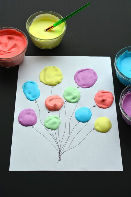 Homemade puffy paint recipe and instructions- great craft to do with your preschooler to explore fun textures!