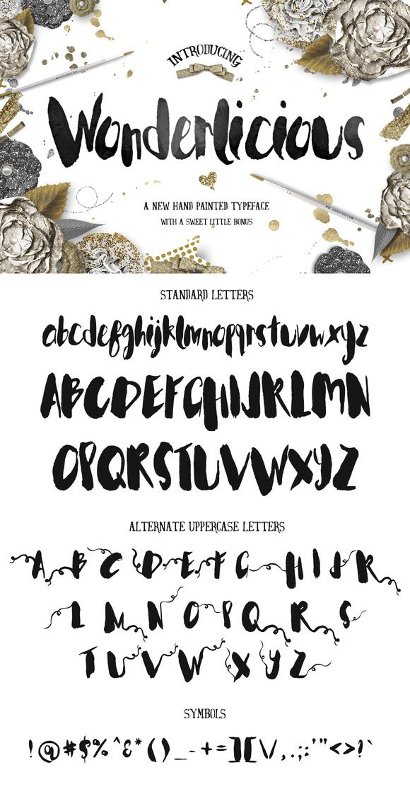Wonderlicious Typeface by Creativeqube Design on @creativemarket