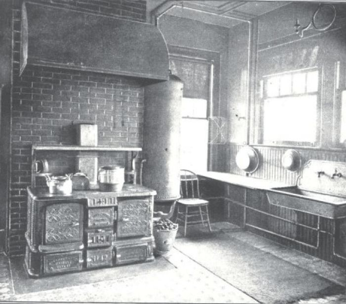 historic kitchen design. kitchen  Work station with a staff most likely 784 best Historic Kitchens images on Pinterest Queen anne 1930s