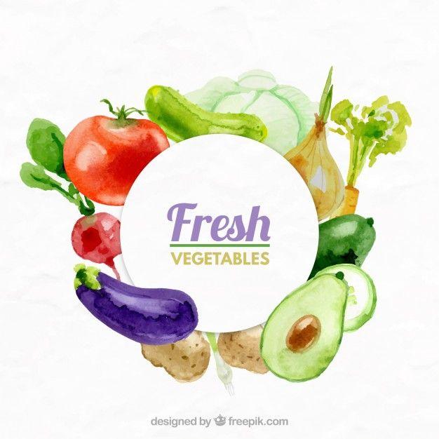Fresh vegetables background Free Vector