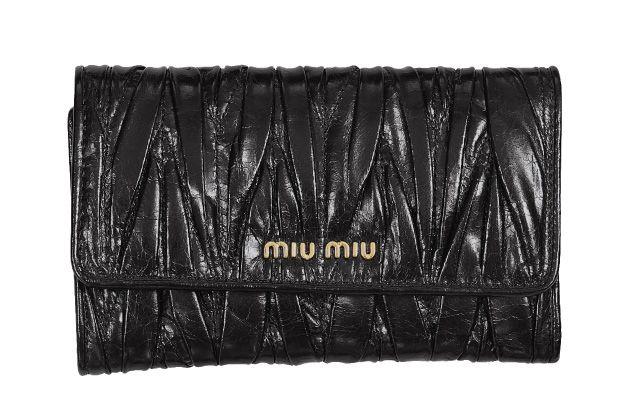 ミュウミュウ2012年春夏新作MATELASSE LUX三つ折り中財布 5M1097 QI9 F0002 -ミュウミュウ財布コピー