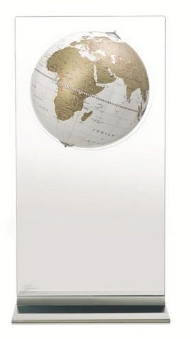 Aria Contemporary World Globe with White Ocean (Free Shipping)
