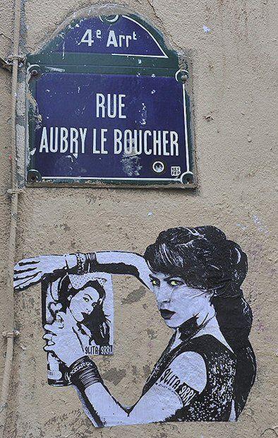 Street Art, rue Aubry-le-Boucher (Paris 4ème)