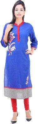 Fuchisa Creation Embroidered Women's Straight Kurta - Buy Blue, White,Red,Black Fuchisa Creation Embroidered Women's Straight Kurta Online at Best Prices in India | Flipkart.com
