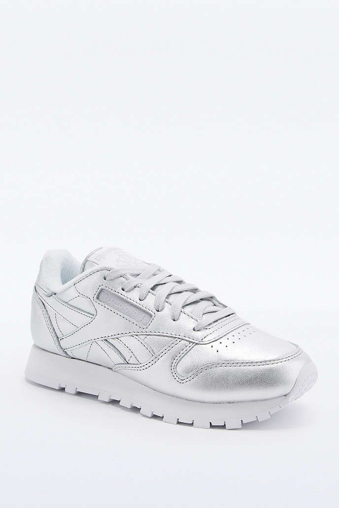 Reebok Classic Silver Trainers - Urban Outfitters