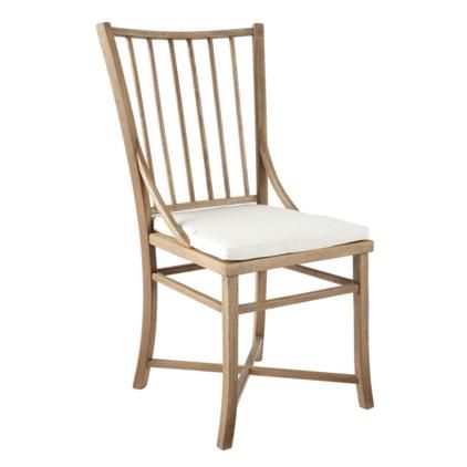 Spindle Back Weathered Oak Dining Chair & Pad