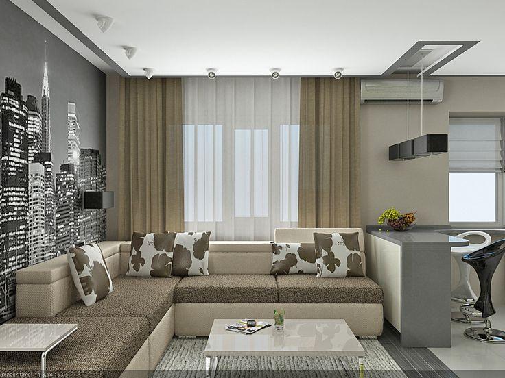 Просмотр фотографии № 2/9 из портфолио «Дизайн однокомнатной квартиры в Донецке»