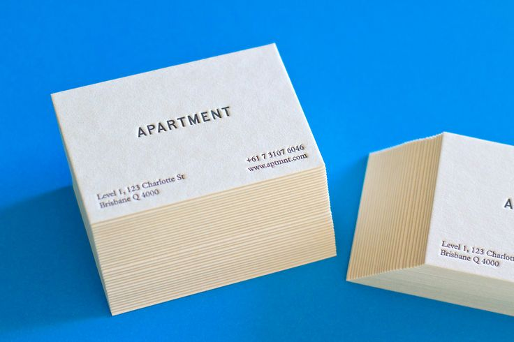 33 best business cards images on pinterest business cards designed in a collaboration between david whipps and young vo these letterpress business cards for apartment are as simple and as functional as they come reheart Images