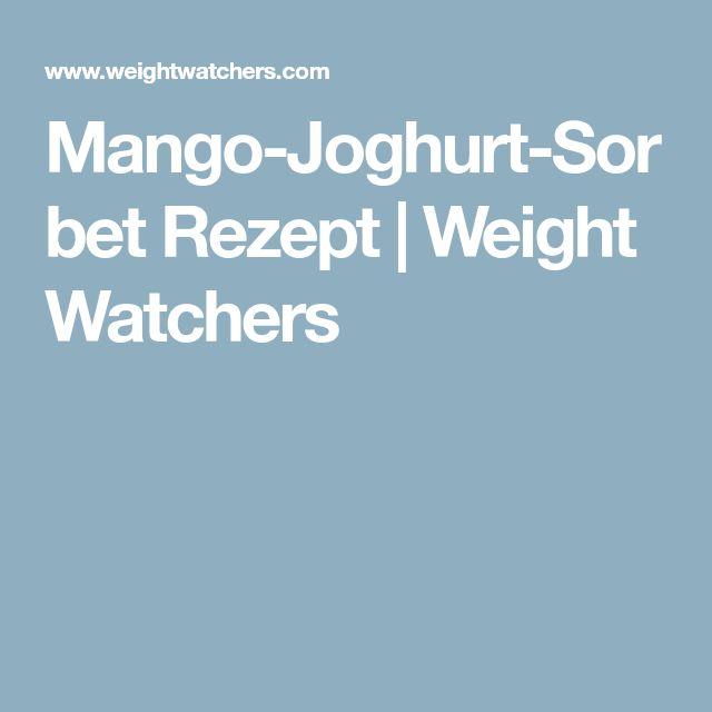 Mango-Joghurt-Sorbet Rezept   Weight Watchers