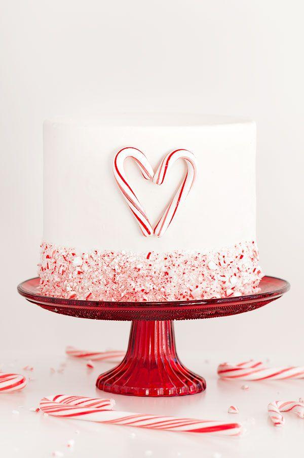 Candy Cane Heart Cake | Sprinkles for Breakfast